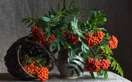 Preview wallpaper Berries, vase, basket