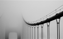 Preview wallpaper Bridge in the fog, mist