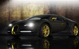 Preview wallpaper Bugatti Veyron black supercar