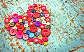 Preview wallpaper Buttons love heart