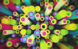 Preview wallpaper Circles rendering, colorful, 3D design