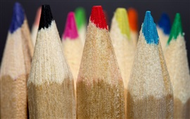Colored pencils macro photography