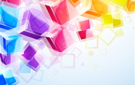 Preview wallpaper Colorful 3D cubes background