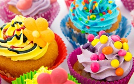 Preview wallpaper Colorful cakes, cream