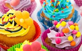 Aperçu fond d'écran Gâteaux colorés, crème