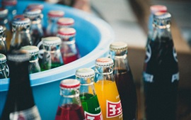 Colorful drinks, bottles, soda