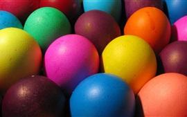 Aperçu fond d'écran Oeufs colorés, thème de Pâques