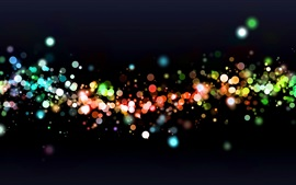 Preview wallpaper Colorful light, abstract, black background