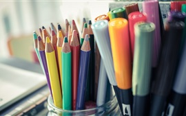 Colorful pencils, still life