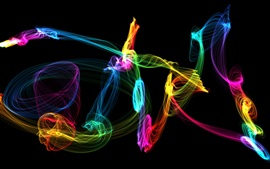 Preview wallpaper Colorful smoke, abstract patterns