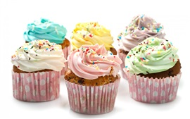 Cupcakes, colorful cream