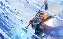Preview wallpaper DOTA 2, Crystal maiden, girl, warrior