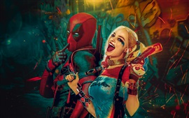 Preview wallpaper Deadpool, Wade Wilson, Suicide squad, Harley Quinn