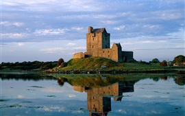 Preview wallpaper Dunguaire Castle, Ireland, lake, water reflection