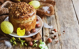 Preview wallpaper Easter, cake, nuts, eggs