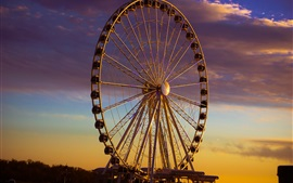 Preview wallpaper Ferris wheel, evening, dusk