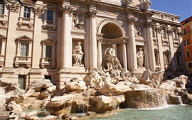 Preview wallpaper Fontana di Trevi, Italy, statue, buildings