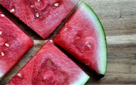 Preview wallpaper Four pieces watermelons