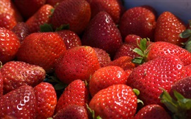 Preview wallpaper Fresh strawberries, ripe, sweet fruit