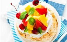 Bolos de frutas, sobremesa