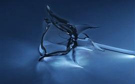 Vidro rosa, design 3D