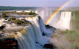 Aperçu fond d'écran Iguazu Falls, arc en ciel, Argentine
