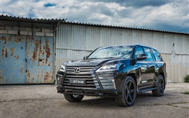 Preview wallpaper Lexus LX 570 black SUV car