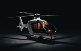 Little helicopter, black background
