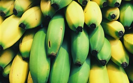 Preview wallpaper Many bananas, green and yellow