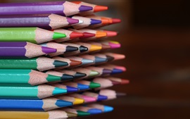 Preview wallpaper Many colored pencils