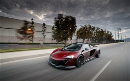 Preview wallpaper McLaren MP4 12C red supercar high speed