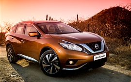 Preview wallpaper Nissan Murano golden SUV car