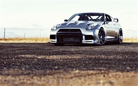 Preview wallpaper Nissan R35 silver car