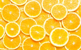 Preview wallpaper Orange slices, fruit macro photography