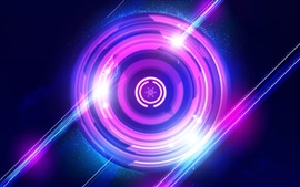 Preview wallpaper Purple circles, light, abstract