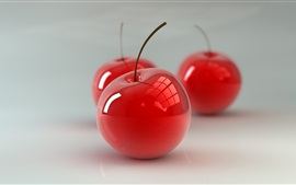 Preview wallpaper Red glass cherries, 3D design