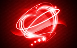 Preview wallpaper Red style love heart, light