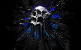 Aperçu fond d'écran Crâne, design créatif