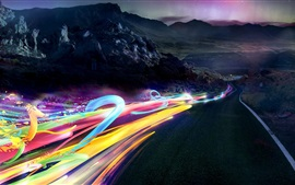 Preview wallpaper Speed, road, abstract ribbons lights