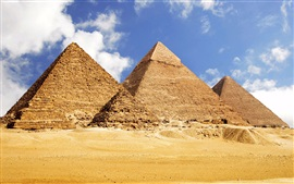 Preview wallpaper Travel to Egypt, pyramids, desert
