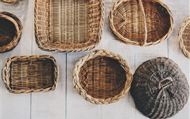 Preview wallpaper Wicker baskets, handicrafts