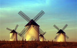 Preview wallpaper Windmills, buildings