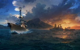 Aperçu fond d'écran World of Warships, jeux HD