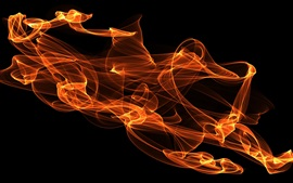 Preview wallpaper Abstract fire, black background