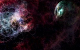 Preview wallpaper Abstract picture, space, planets