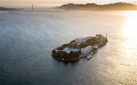Preview wallpaper Alcatraz, prison, island, san francisco, sea, USA