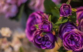 Preview wallpaper Artificial flowers, purple roses