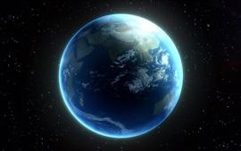Красивая планета, Земля, космос