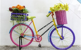 Preview wallpaper Bike and flowers