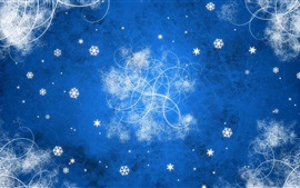 Preview wallpaper Blue background, abstract, snowflakes, bright lines